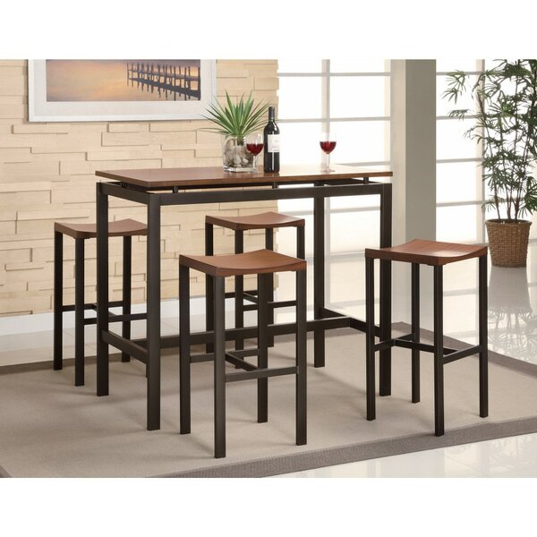 O'Donnelly 5 Piece Counter Height Dining Set by Ebern Designs
