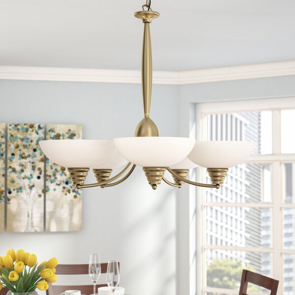 Deerwood 5-Light Shaded Chandelier by Andover Mills
