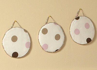 3 Piece Mod Dots Hanging Art Set by Sweet Jojo Designs