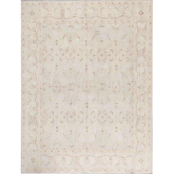 Ziegler Oriental Hand-Knotted Wool Gray/Ivory Area Rug