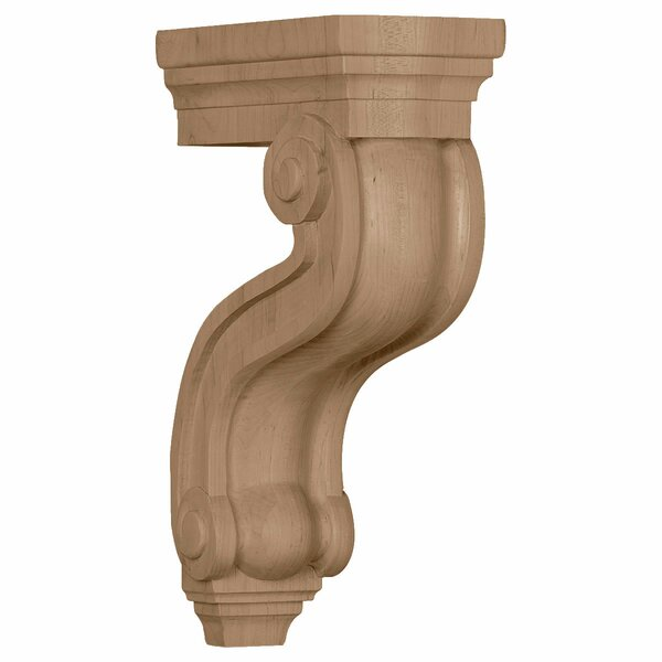 Hampshire 13H x 3 7/8W x 8D Los Angeles Hollow Back Corbel in Alder by Ekena Millwork