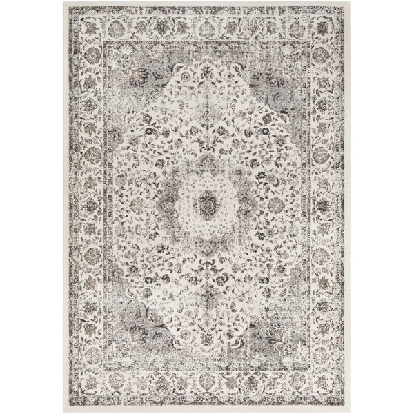 Maleisha Distressed Taupe/Beige Area Rug by Ophelia & Co.