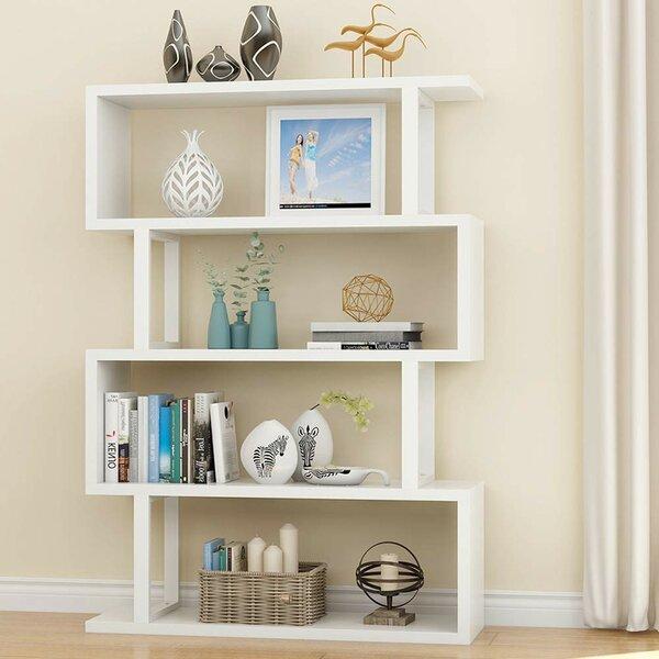 Holroyd 4-Shelf Modern Geometric Bookcase by Ebern Designs