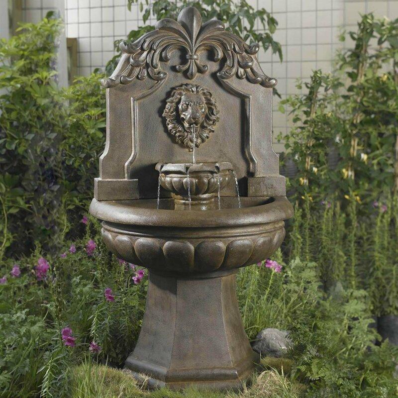 Resin/Fiberglass Lion Head Outdoor/Indoor Water Fountain