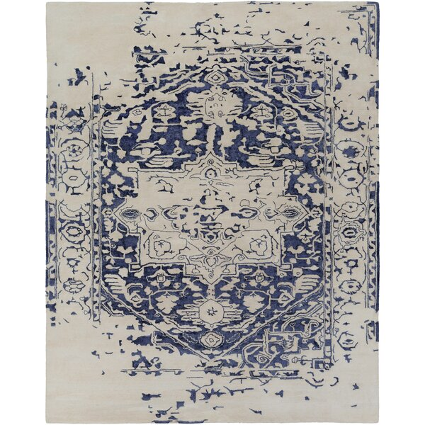 Pearl Hand-Tufted Blue/Beige Area Rug by One Allium Way