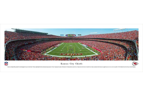 NFL Kansas City Chiefs - End Zone by James Blakeway Photographic Print by Blakeway Worldwide Panoramas, Inc