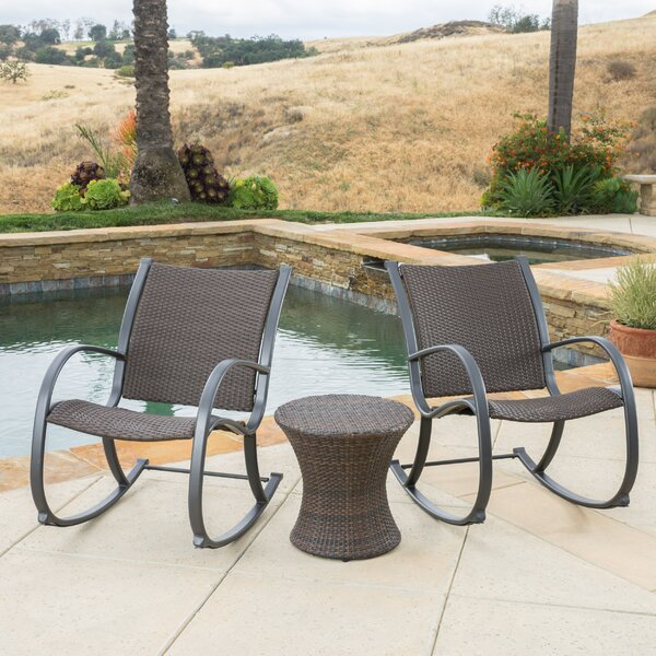 Fern Rock 3 Piece Rattan Set by Wrought Studio