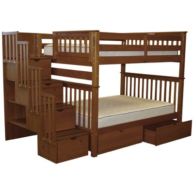 bunk loft beds with stairs. Black Bedroom Furniture Sets. Home Design Ideas