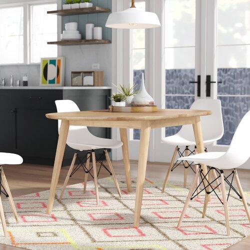 George Oliver Castaneda Mid Cenutry Modern Solid Wood Dining Table