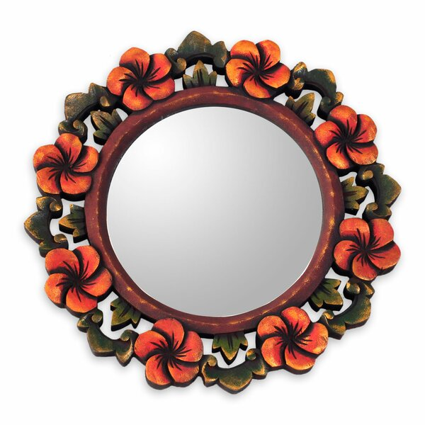 Floral Wall Mirror by Novica