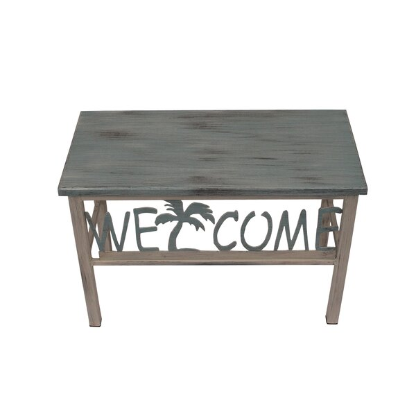 Ishaan Welcome/Palm Wood Bench by Highland Dunes