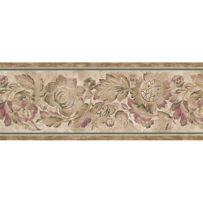 Korolevu Magenta Retro Design 15 L X 9 W Abstract Wallpaper Border