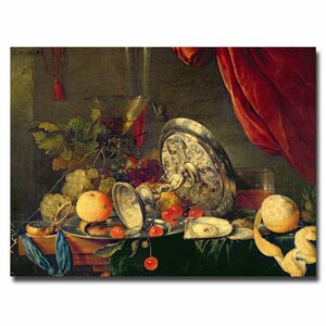 Still Life by Jan Davidsz. de Heem Painting Print on Canvas by Trademark Fine Art