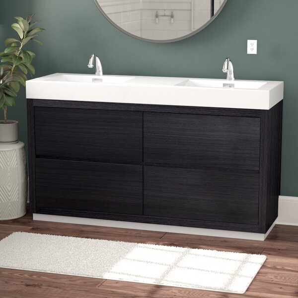 Tenafly 59 Double Bathroom Vanity Set by Wade Logan