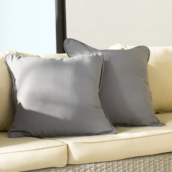 Branan Indoor/Outdoor Throw Pillow (Set of 2) by Mercury Row
