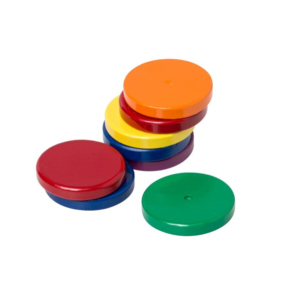 Eight 1 Ceramic Disc Magnets by Dowling Magnets
