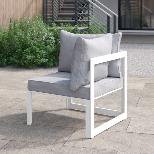 Annemarie Corner Outdoor Patio Armchair with Cushions by Foundstone Foundstone