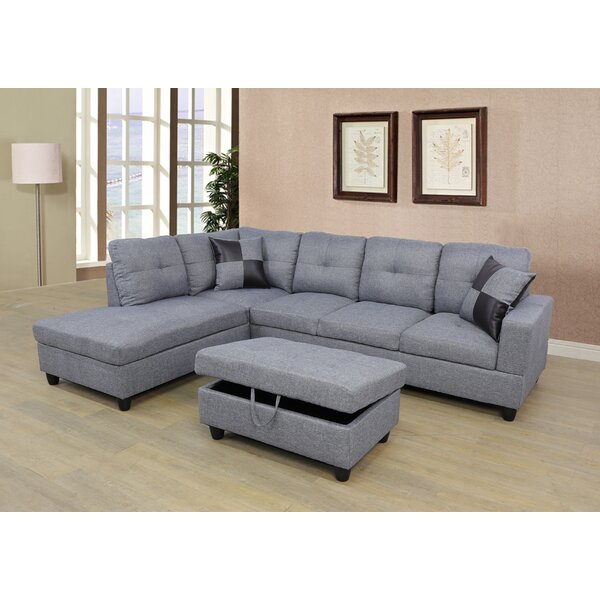 Caldicot Sectional with Ottoman by Ebern Designs