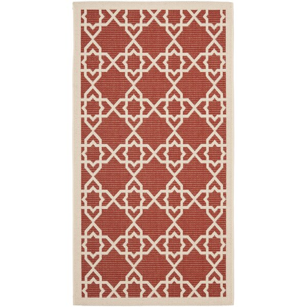 Ceri Red Indoor/Outdoor Rug by Beachcrest Home