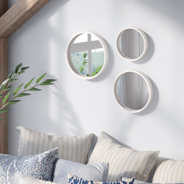 3 Piece Round Wall Mirror Set by Three Posts