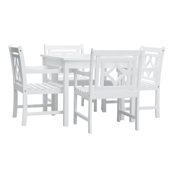 Amabel 5 Piece Patio Dining Set by Beachcrest Home