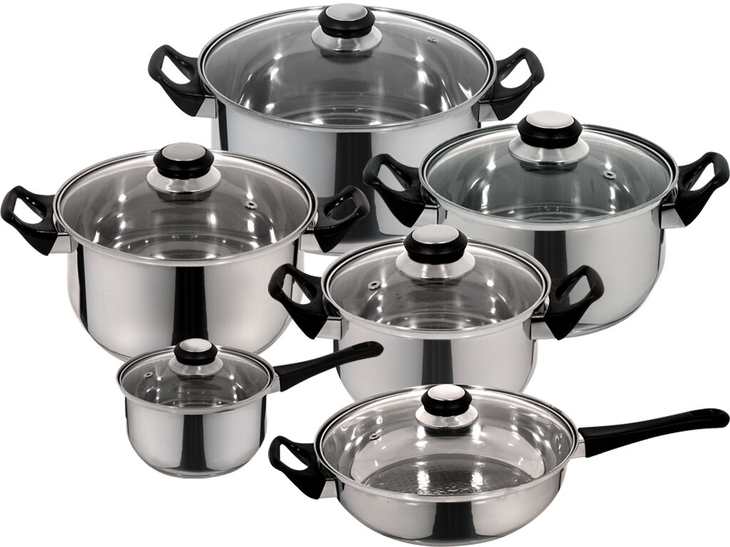 Magefesa Monterrey 12 Piece Priminute Stainless Steel Cookware Set ...