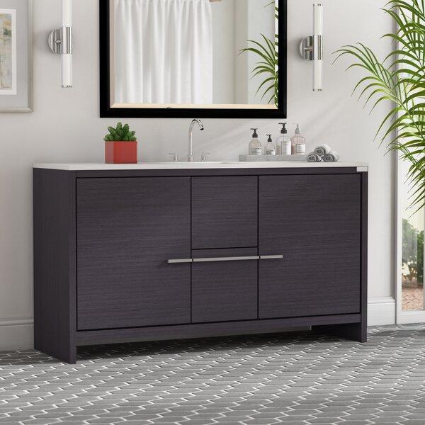 Bosley 60 Single Modern Bathroom Vanity Set by Mercury Row