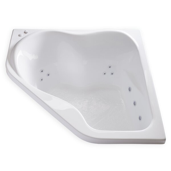 Hygienic Aqua Massage  59 x 59 Whirlpool Bathtub by Carver Tubs