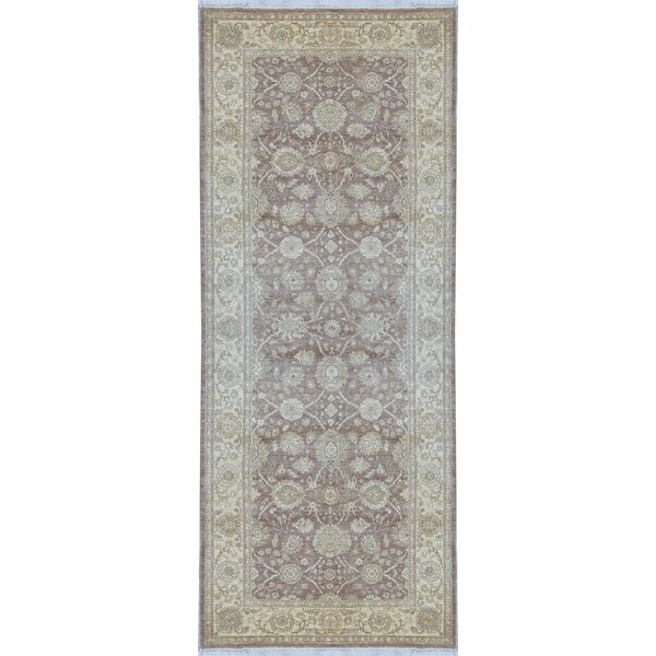 Hand-Knotted Wool Camel/Cream Rug