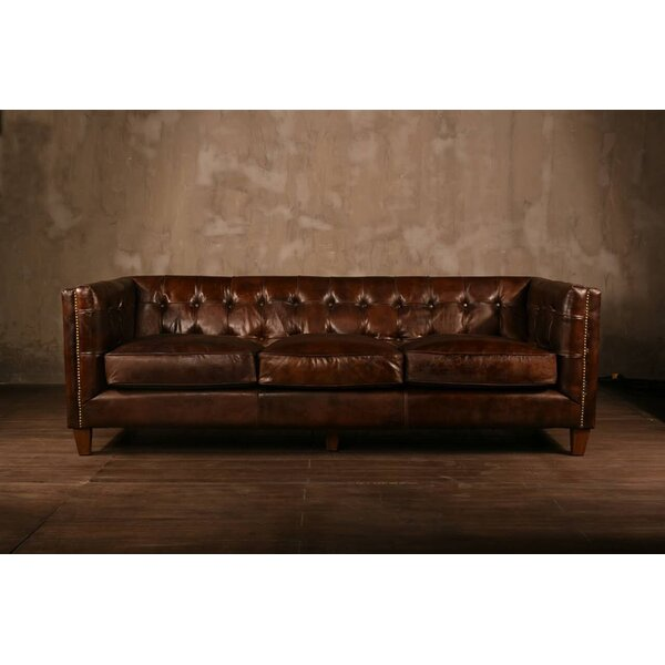 PoliVaz Leather Chesterfield Sofa& Reviews Wayfair