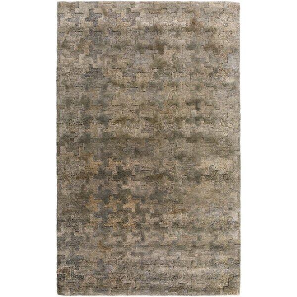 Tobias Hand-Woven Khaki Area Rug by Corrigan Studio