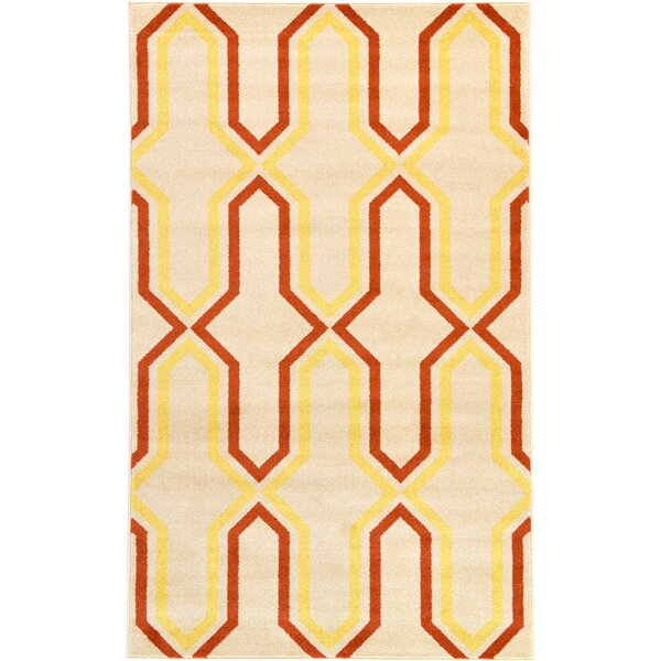 Marika Cream Area Rug by Bloomsbury Market