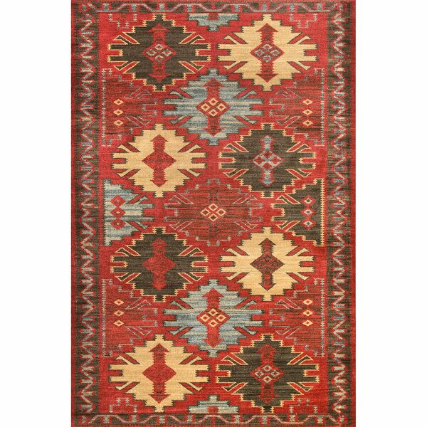 Teddy Red Area Rug by World Menagerie