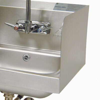 Two High Welded Side Splashes for Bowl with Deck Mount Faucet by Advance Tabco