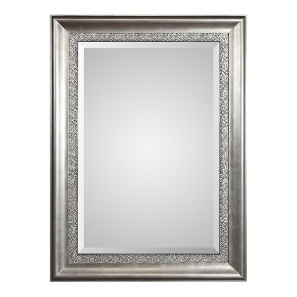 Ellie Bevelled Silver Wall Mirror by Willa Arlo Interiors