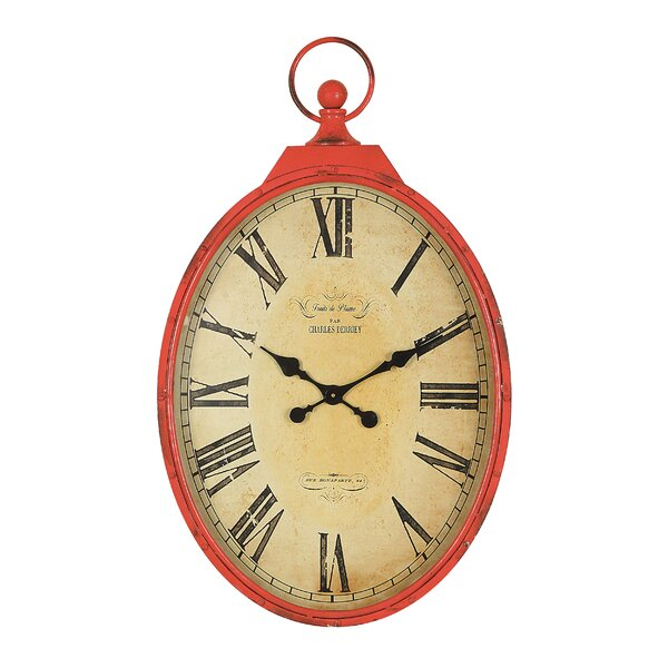Kivett Oversized 27 Pocket Watch Wall Clock by Ophelia & Co.