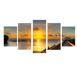 'Key's Sunrise' Framed Photo Graphic Print on Canvas Yellow by Zipcode Design