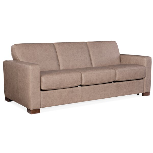 Check Price Peralta Leather Sofa Bed
