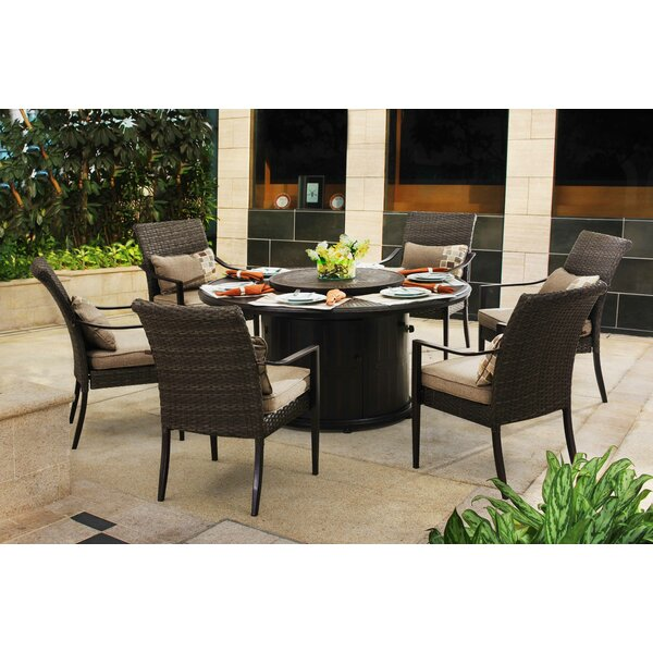 Jordahl 7 Piece Dining Set with Cushions by Latitude Run