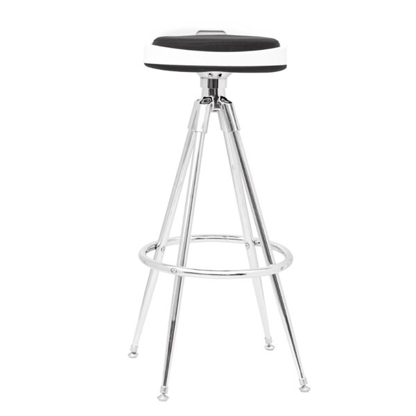 Sculpt Adjustable Height Swivel Bar Stool by Fine Mod Imports