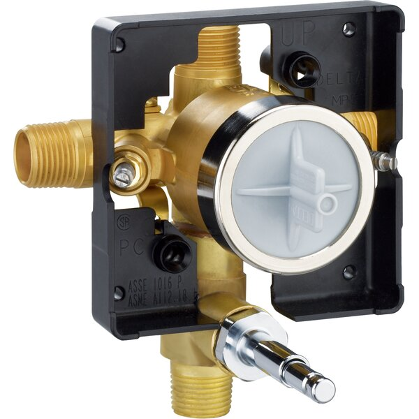 MultiChoice® Universal Valve Body with Push Button Diverter by Delta