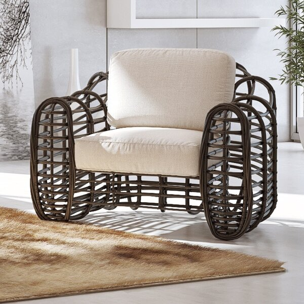 Sapodilla Lounge Chair with Cushion by UrbanMod