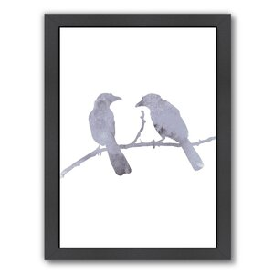 Birds Framed Painting Print by East Urban Home