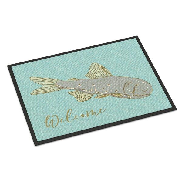 Fish Welcome Non-Slip Outdoor Door Mat