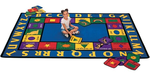 Bilingual Spanish Kids Area Rug by Carpets for Kids