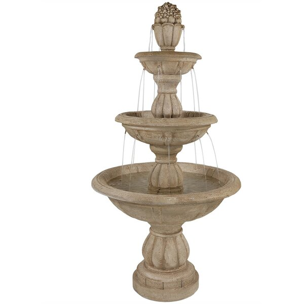 Fiberglass 3-Tier Cornucopia Water Fountain by Wildon Home ®