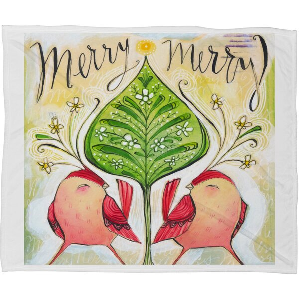 Donmoyer Merry Merry Fleece Throw Blanket by Brayden Studio