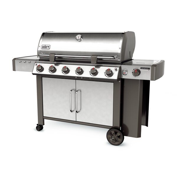 Genesis II LX S-640 6-Burner Propane Gas Grill with Side Burner by Weber