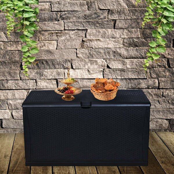 All Weather 120 Gallon Plastic Deck Box By Ainfox