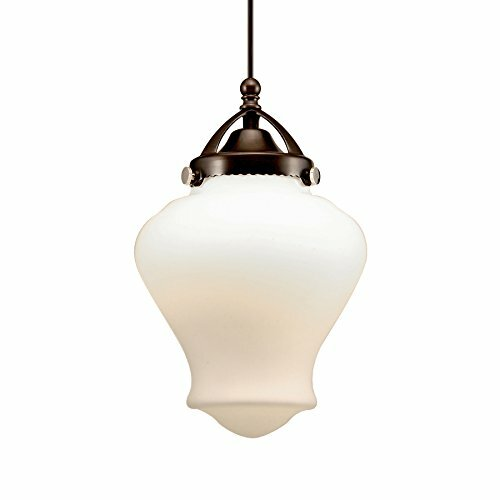 Sheffield Monopoint 1-Light  LED Schoolhouse Pendant by WAC Lighting